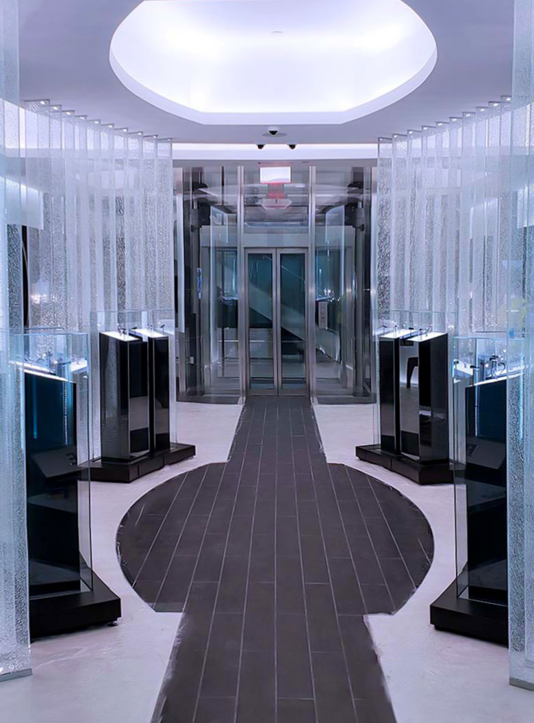 Luxury commercial glass elevator